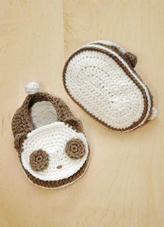 Panda Baby Booties - pattern