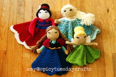 We adore this collection of Disney Princess Lovey Crochet and they're FREE Patterns. Check out all the versions and make them all!