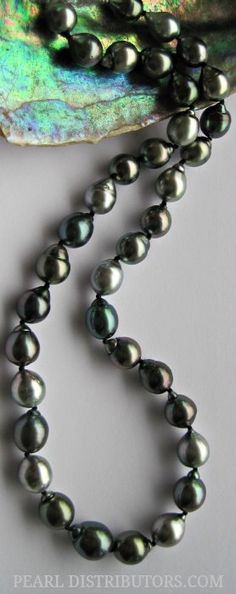 baroque #Tahitian #pearl #necklace.  Just takes my breath.