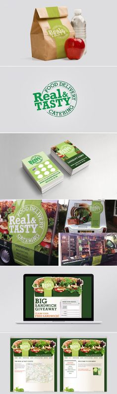 Real & Tasty - Branding, Brand Identity Design, Vehicle Livery Design, Food Branding. Created by Graphic Evidence