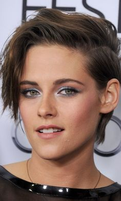 Kristen Stewart has changed her hair SO many times –– but her dramatic short haircut and outfit styling to match is one of our favorite looks.