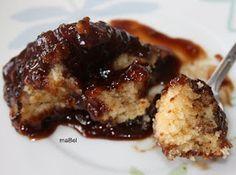 La receta perdida... Otra tarta magica, se le vuelca encima azúcar y una taza de café, y esta vez, sale con una salsa increíble de chocol...