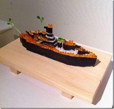 ikura sushi gunkan