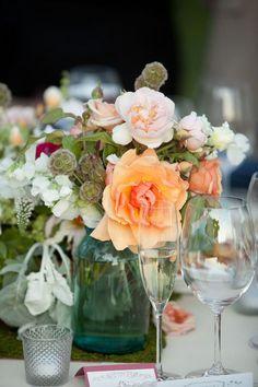 #centerpiece  Floral Design: Fleurs de France - fleursfrance.com  Read More: http://www.stylemepretty.com/california-weddings/sonoma/2011/07/05/organic-sonoma-wedding-by-fleurs-de-france/