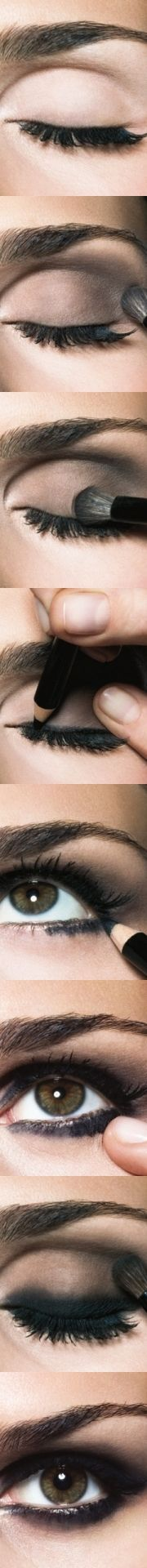 Maquillaje de ojos ahumado en sencillos pasos, busca más ideas en http://www.1001consejos.com/
