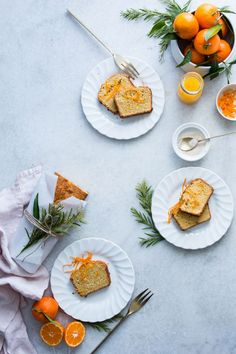 Cake clémentine-noix de coco // food photography, food styling