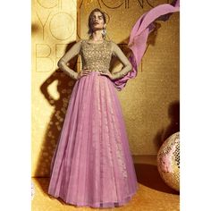 Beige-Pink Mono Net With Lycra Sleeves Floor Length Salwar Suit at Lalgulal.com. To Order :- http://goo.gl/wxe89Y To Order you Call or Whatsapp us on +91-95121-50402. COD & Free Shipping Available only in India.