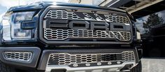 2017 Ford Raptor - Front Upper Grille Overlays | Slash Style Easy to install, made from 304 stainless steel in the USA!