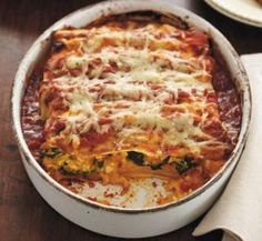 """Pumpkin and spinach cannelloni 