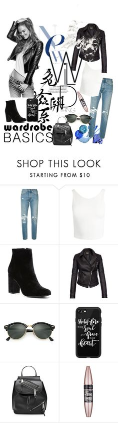 """Wardrobe Basics Jeans"" by laneywyble ❤ liked on Polyvore featuring Levi's, Sans Souci, Witchery, Barbour International, Ray-Ban, Casetify, Marc Jacobs and Maybelline"