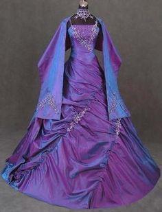 Image detail for -robe-de-soiree-mauve-bleue-brillante-manches-longu