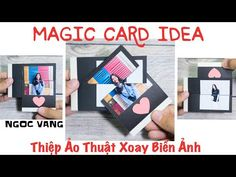 Thiệp Ảo Thuật Xoay Biến Ảnh/ Magic Card Idea - NGOC VANG - YouTube Hand Crafts For Kids, Diy Crafts For Girls, Card Making Tutorials, Card Making Techniques, Paper Cards, Diy Cards, Explosion Box Tutorial, Exploding Gift Box, Puzzle Crafts