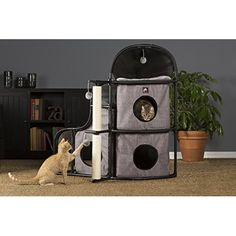 Prevue Pet Products Prevue Pet Products Catville Bungalow Gray 7230, Gray