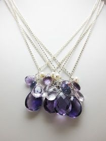 Inspired Details: A Blog for Baltimore Brides - A Baltimore Bridal & Wedding Blog: Purple Gemstone Bridesmaids Jewelry - Custom Order