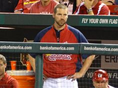 Carp. surprised to see him in dugout on 7.24.12. thought he was still in Memphis