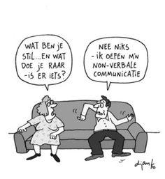 Non-Verbale Communicatie — Robert van der Wolk Teaching Skills, The Time Is Now, Insta Posts, Funny Cartoons, Education Quotes, Recherche Google, Illustrations Posters, Coaching, Communication