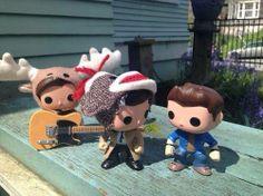 Sam, Cas and Dean dolls, awww so cute.  MISHA MINIONS FACEBOOK PAGE