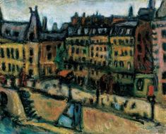 Bela Czobel - Bank of the Seine in Paris, 1925 Fauvism, Post Impressionism, Art Database, French Art, Hanging Art, Pretty Art, Painting & Drawing, Drawings, Artwork