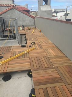 My contractors promised me that they would have the roof deck finished for me in time for Fleet Week. They called in James and his cre...