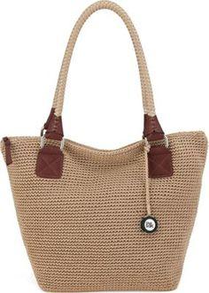 The Sak Cambria Crochet Large Tote Bag Bamboo - via eBags.com!