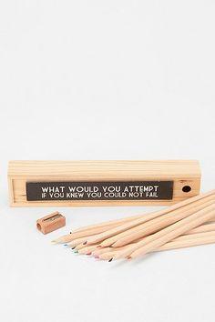 Wood Color Pencil Set