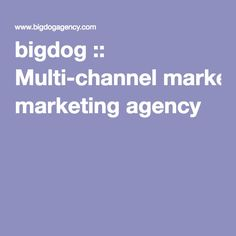 The award-winning Integrated Agency that uses standout thinking to make a real difference to our Clients, creating Big Positive Impacts. Channel, Positivity, Marketing, Optimism