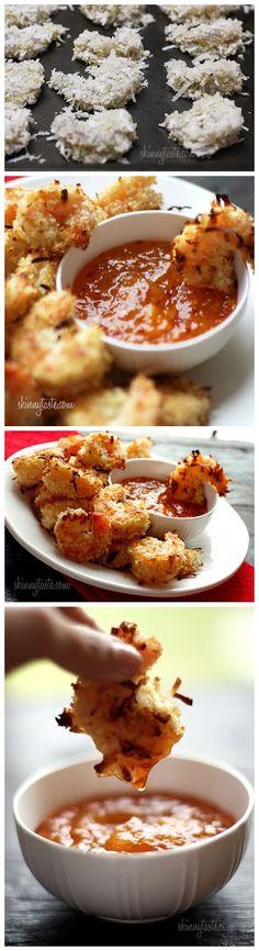 Skinny Coconut Shrimp (For half pound jumbo shrimp 14min, only need quarter sauce recipe for half pound)