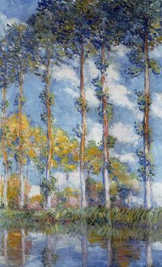 Poplars by Monet
