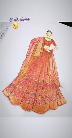 Fashion Drawing Dresses, Fashion Illustration Dresses, Fashion Illustrations, Fashion Dresses, Art Sketches, Art Drawings, Gown Drawing, New Dress Pattern, Art Optical