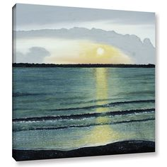ArtWall Herb Dickinson's Sunset At Hilton Head, Gallery Wrapped