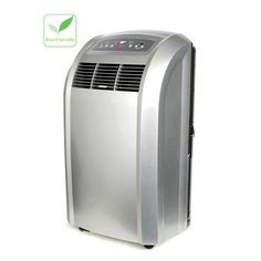 """Portable on the floor A/C unit. Gotta love modern technology instead of those """"window boxes"""" style. Whynter 12000 BTU Portable Air Conditioner with Remote"""