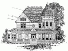 Eplans Queen Anne House Plan - Three Bedroom Queen Anne - 2519 Square Feet and 3 Bedrooms from Eplans - House Plan Code HWEPL64584