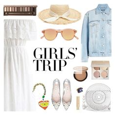 """Girls' Trip: Wine Tasting"" by dora04 ❤ liked on Polyvore featuring Chicwish, Alexander McQueen, Cult Gaia, Chimi, Too Faced Cosmetics, Urban Decay, Stila, girlstrip and WineTastingOutfit"