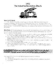 industrial revolution dbq 2 essay -according to the author, the effects of the industrial revolution were  essay will  be collected at the end of the period on monday task #2.