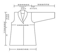 """Saco DROPS con pliegues tejido de lado a lado en punto musgo con """"Karisma"""". Talla S – XXXL. Alternativa de lana """"Merino Extrafine"""". ~ DROPS Design"""