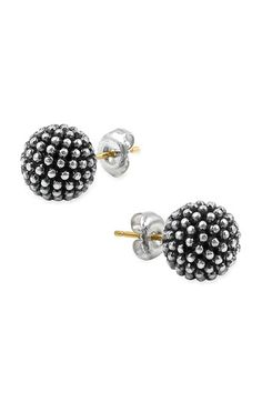 i bet the texture of these feels cool    Lagos 'Columbus Circle' Ball Stud Earrings #nordstrom