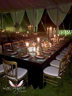 Velas para bodas románticas