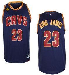 Men's Cleveland Cavaliers #23 King James Nickname Revolution 30 Swingman 2014 New Navy Blue Jersey -Printed !!