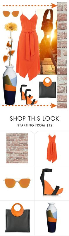"""""""Orange"""" by carlina-tof ❤ liked on Polyvore featuring Warehouse, Balmain, Michael Kors, Corsi Design Factory and Gerber"""