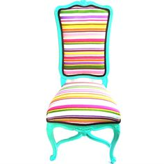Fun refurbished chair aqua base for retro chairs I have