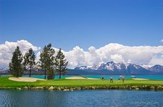 18th Green at Edgewood Tahoe - Would gladly drive John around this golf course. :)