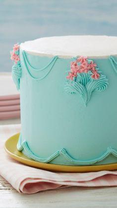 Cake Decorating Frosting, Creative Cake Decorating, Cake Decorating Techniques, Creative Cakes, Cookie Decorating, Buttercream Cake Designs, Decoration Patisserie, Dessert Decoration, Cake Decorations