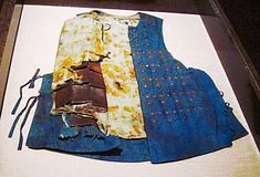Interior of a Qing brigandine, most of the Qing Brigandines are made with interlaced steel plates meshed between silk and gambeson.  and served as an ideal, flexible cavalry armor
