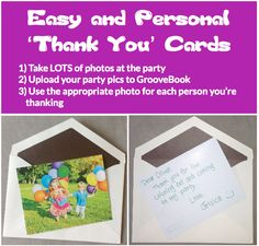 GrooveBook idea of the week: 'Thank You' cards!