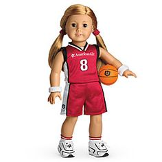 SO CUTE!  American Girl® Clothing: Basketball Outfit for Dolls + Charm