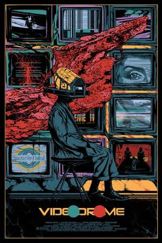 Videodrome film poster by Kilian Eng Horror Movie Posters, Best Movie Posters, Cinema Posters, Movie Poster Art, Horror Movies, Film Posters, 1980's Movies, Cult Movies, Comedy Movies