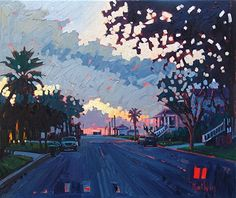 """Dawn At Avenue N 1/2,"" by Rene' Wiley by Rene' Wiley Gallery Oil ~ 20 x 24"