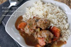 Spicy meatball soup recipe