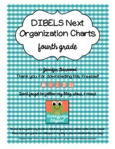 DIBELS Next Organization Charts for 4th Grade