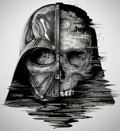 The dark side of Darth Vader. - Star Wars Death Star - Ideas of Star Wars Death Star - The dark side of Darth Vader. Star Wars Tattoo, War Tattoo, Death Star Tattoo, Sith Tattoo, Book Tattoo, Anakin Vader, Darth Maul, Photos Rares, Lightsaber